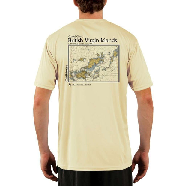 Coastal Classics British Virgin Islands Mens Upf 5+ Uv/sun Protection Performance T-Shirt Pale Yellow / X-Small Shirt