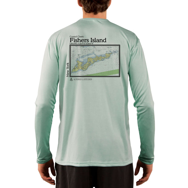 Coastal Classics Fishers Island Chart Men's UPF 50+ Long Sleeve T-Shirt - Altered Latitudes