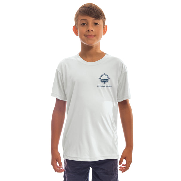 Compass Vintage Pawleys Island Youth UPF 50+ UV/Sun Protection Long Sleeve T-Shirt