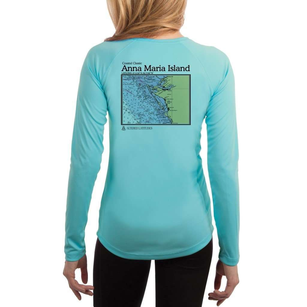 Coastal Classics Anna Maria Island Womens Upf 50+ Uv/sun Protection Performance T-Shirt Water Blue / X-Small Shirt