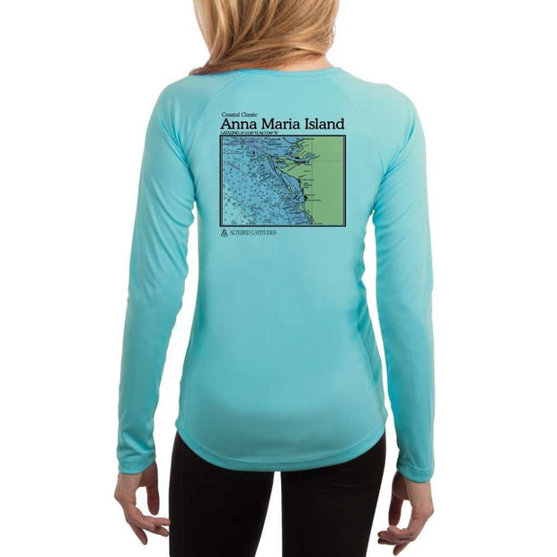 Coastal Classics Anna Maria Island Womens Upf 5+ Uv/sun Protection Performance T-Shirt Water Blue / X-Small Shirt