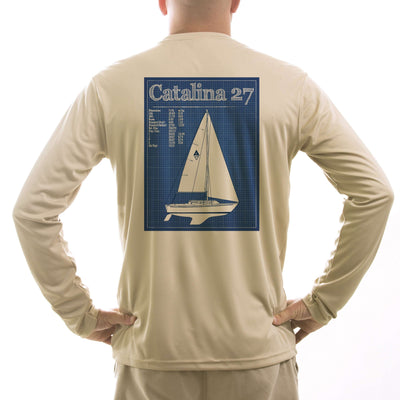 Catalina 27 Class Sailboat Men's UPF 50+ UV/Sun Protection Long Sleeve T-Shirt - Altered Latitudes