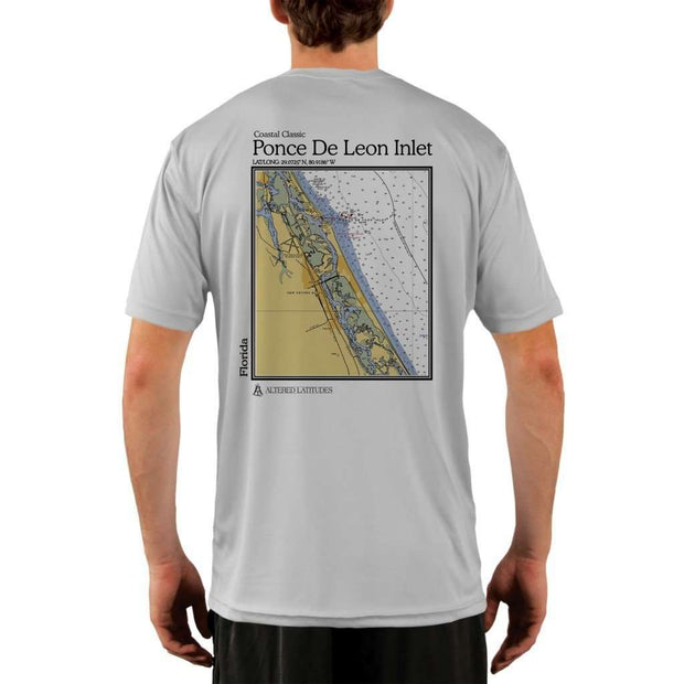Coastal Classics Ponce De Leon Inlet Mens Upf 5+ Uv/sun Protection Performance T-Shirt Pearl Grey / X-Small Shirt