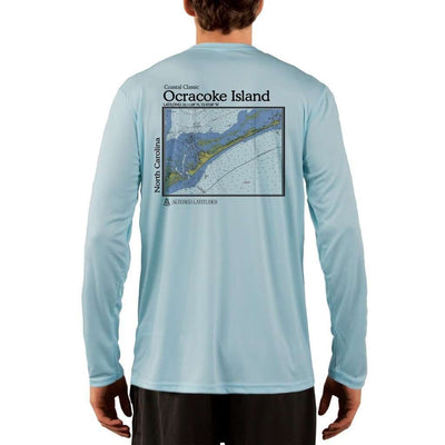 Coastal Classics Ocracoke Island Mens Upf 5+ Uv/sun Protection Performance T-Shirt Arctic Blue / X-Small Shirt