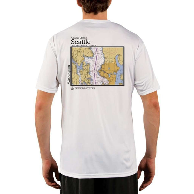 Coastal Classics Seattle Mens Upf 5+ Uv/sun Protection Performance T-Shirt White / X-Small Shirt