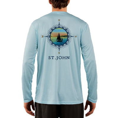 Compass Vintage St.John Men's UPF 50+ Long Sleeve T-Shirt