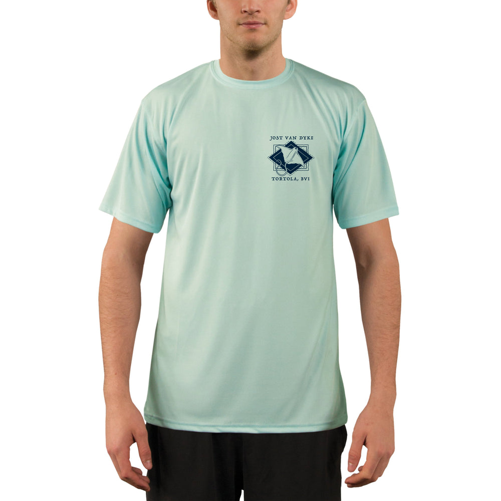 Coastal Quads Jost Van Dyke Men's UPF 50+ Short Sleeve T-shirt