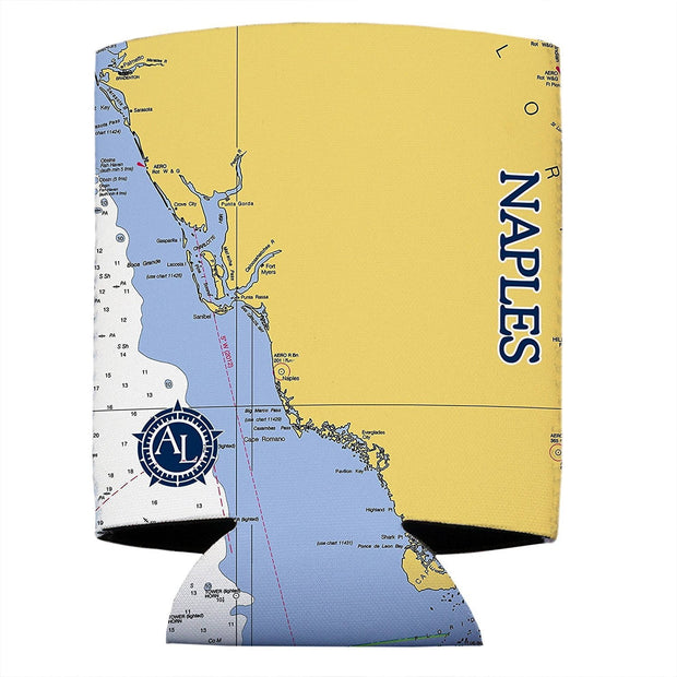 Altered Latitudes Naples Chart Standard Beverage Cooler (4-Pack)