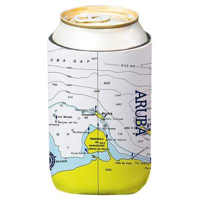 Altered Latitudes Aruba Chart Standard Beverage Cooler (4-Pack)