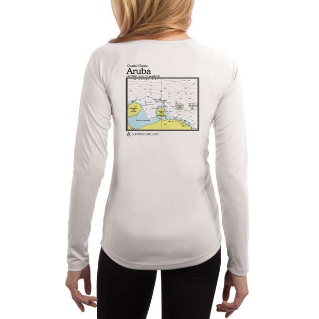 Coastal Classics Aruba Womens Upf 5+ Uv/sun Protection Performance T-Shirt White / X-Small Shirt