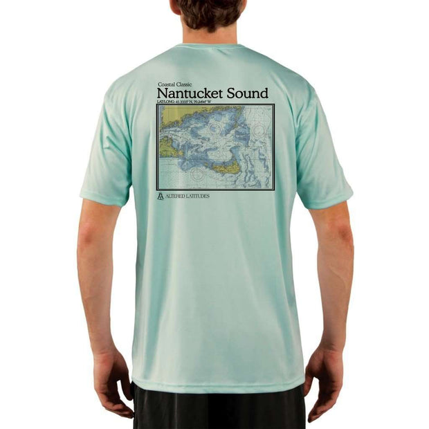 Coastal Classics Nantucket Sound Mens Upf 5+ Uv/sun Protection Performance T-Shirt Seagrass / X-Small Shirt