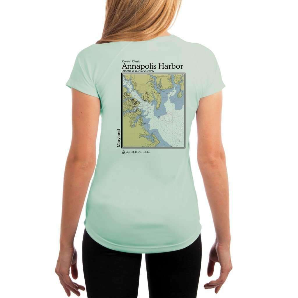 Coastal Classics Annapolis Harbor Womens Upf 50+ Uv/sun Protection Performance T-Shirt Seagrass / X-Small Shirt