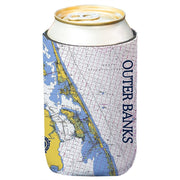 Altered Latitudes Outer Banks Chart Standard Beverage Cooler (4-Pack)