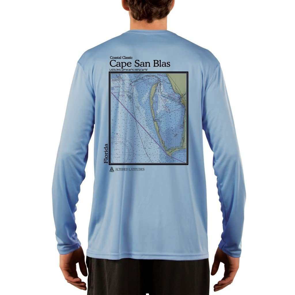 Coastal Classics Cape San Blas Mens Upf 50+ Uv/sun Protection Performance T-Shirt Columbia Blue / X-Small Shirt