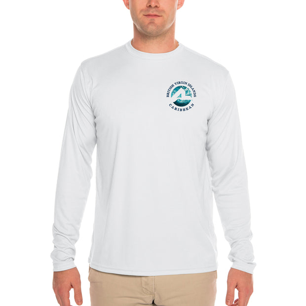 Fish Charts British Virgin Islands Men's UPF 50+ Long Sleeve T-Shirt