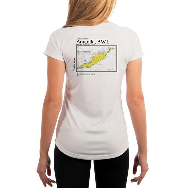 Coastal Classics Anguilla B.w.i. Womens Upf 5+ Uv/sun Protection Performance T-Shirt White / X-Small Shirt