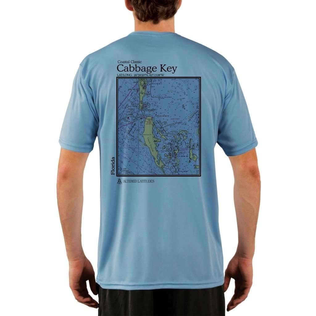 Coastal Classics Cabbage Key Mens Upf 50+ Uv/sun Protection Performance T-Shirt Columbia Blue / X-Small Shirt