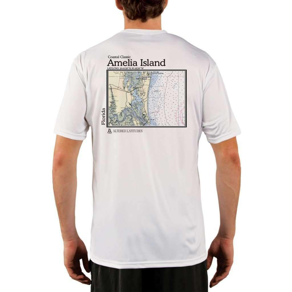 Coastal Classics Amelia Island Mens Upf 50+ Uv/sun Protection Performance T-Shirt White / X-Small Shirt