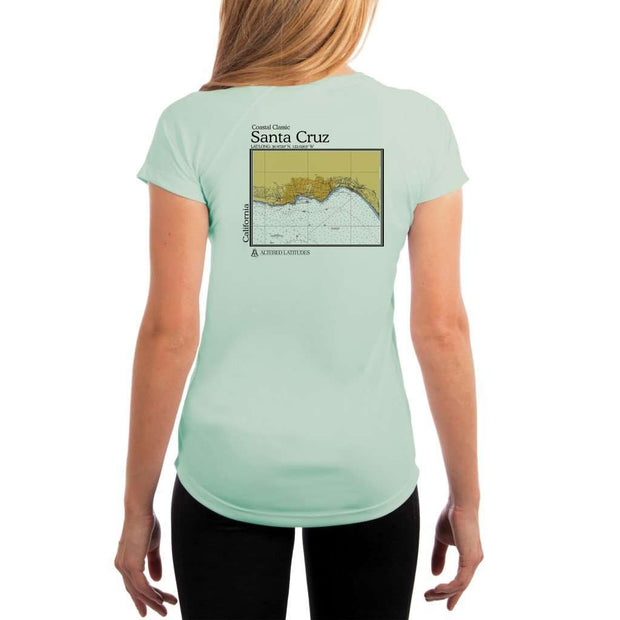 Coastal Classics Santa Cruz Womens Upf 5+ Uv/sun Protection Performance T-Shirt Seagrass / X-Small Shirt