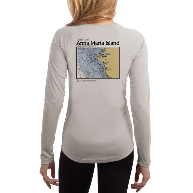 Coastal Classics Anna Maria Island Womens Upf 5+ Uv/sun Protection Performance T-Shirt Pearl Grey / X-Small Shirt