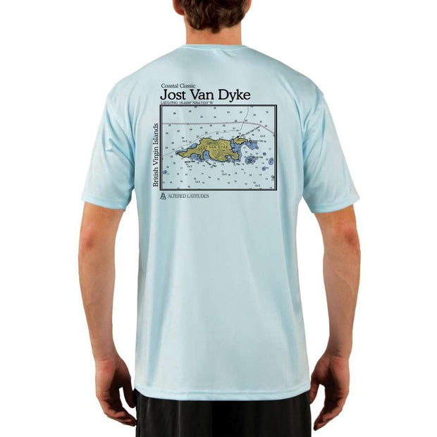Coastal Classics Jost Van Dyke Mens Upf 5+ Uv/sun Protection Performance T-Shirt Arctic Blue / X-Small Shirt