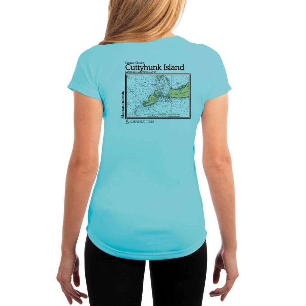 Coastal Classics Cuttyhunk Island Womens Upf 5+ Uv/sun Protection Performance T-Shirt Water Blue / X-Small Shirt