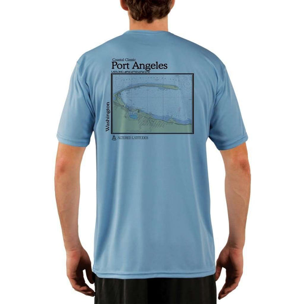 Coastal Classics Port Angeles Mens Upf 5+ Uv/sun Protection Performance T-Shirt Columbia Blue / X-Small Shirt