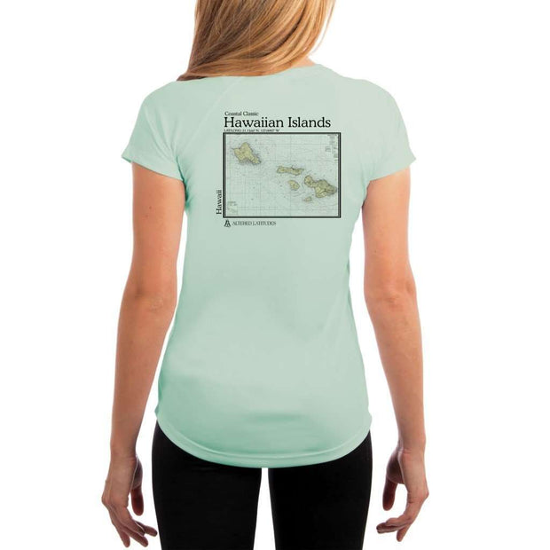 Coastal Classics Hawaiian Islands Womens Upf 5+ Uv/sun Protection Performance T-Shirt Seagrass / X-Small Shirt