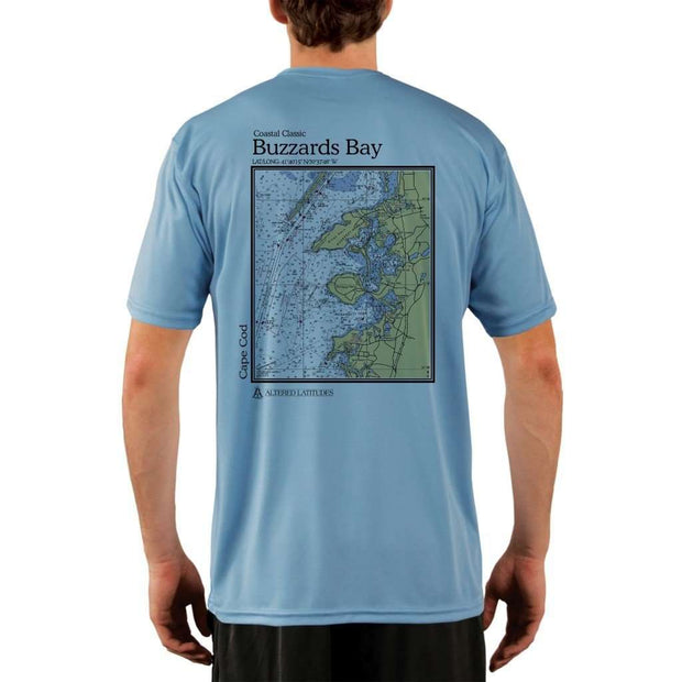 Coastal Classics Buzzards Bay Mens Upf 5+ Uv/sun Protection Performance T-Shirt Columbia Blue / X-Small Shirt