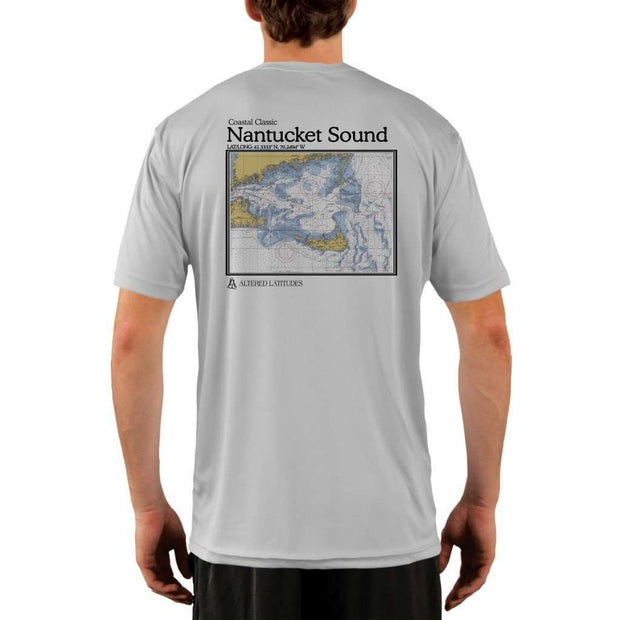 Coastal Classics Nantucket Sound Mens Upf 5+ Uv/sun Protection Performance T-Shirt Pearl Grey / X-Small Shirt