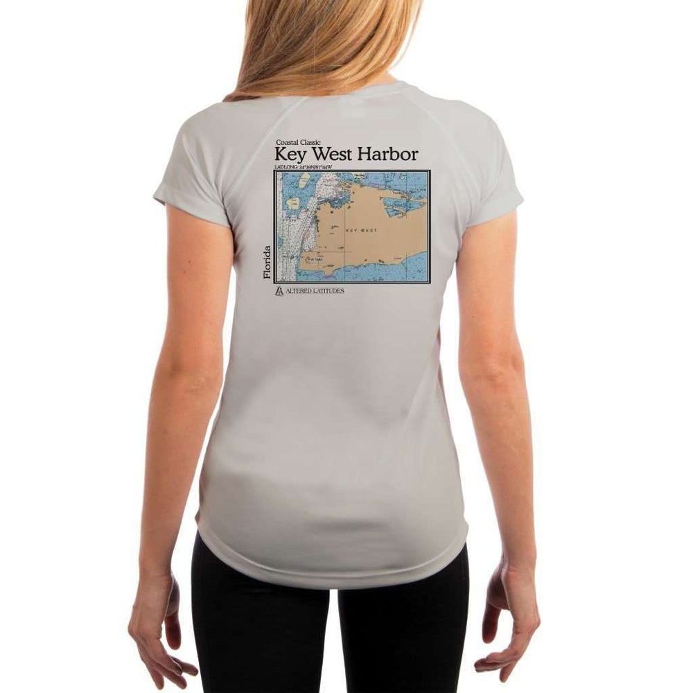 Coastal Classics Key West Harbor Womens Upf 5+ Uv/sun Protection Performance T-Shirt Pearl Grey / X-Small Shirt