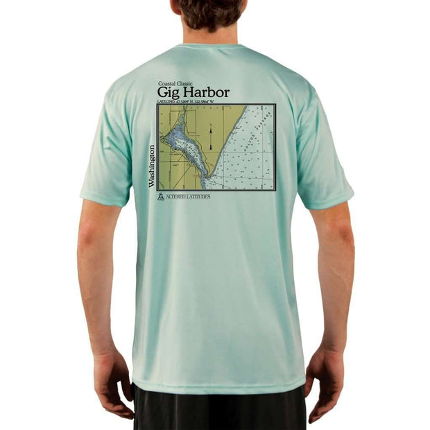Coastal Classics Gig Harbor Mens Upf 5+ Uv/sun Protection Performance T-Shirt Seagrass / X-Small Shirt