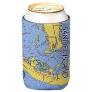 Altered Latitudes Sanibel Island Chart Standard Beverage Cooler (4-Pack)