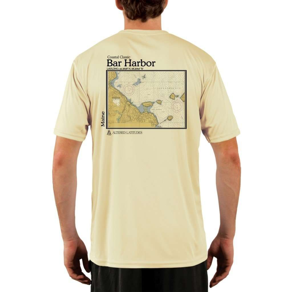 Coastal Classics Bar Harbor Mens Upf 50+ Uv/sun Protection Performance T-Shirt Pale Yellow / X-Small Shirt