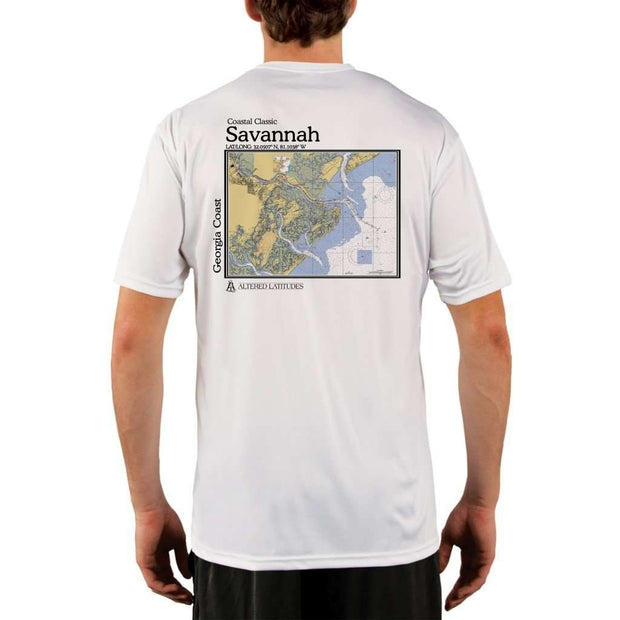 Coastal Classics Savannah Georgia Coast Mens Upf 5+ Uv/sun Protection Performance T-Shirt White / X-Small Shirt