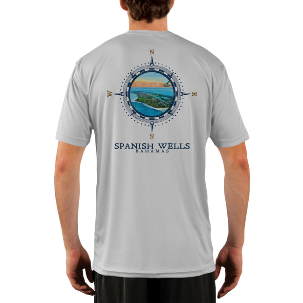 Compass Vintage Spanish Wells Men's UPF 50+ Short Sleeve T-shirt