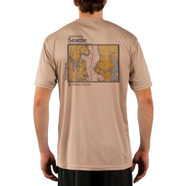 Coastal Classics Seattle Mens Upf 5+ Uv/sun Protection Performance T-Shirt Tan / X-Small Shirt