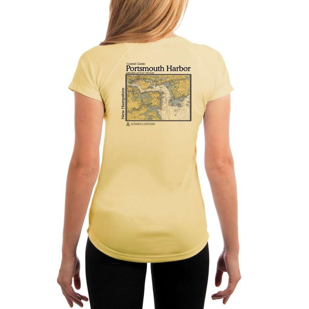 Coastal Classics Portsmouth Harbor Womens Upf 5+ Uv/sun Protection Performance T-Shirt Pale Yellow / X-Small Shirt