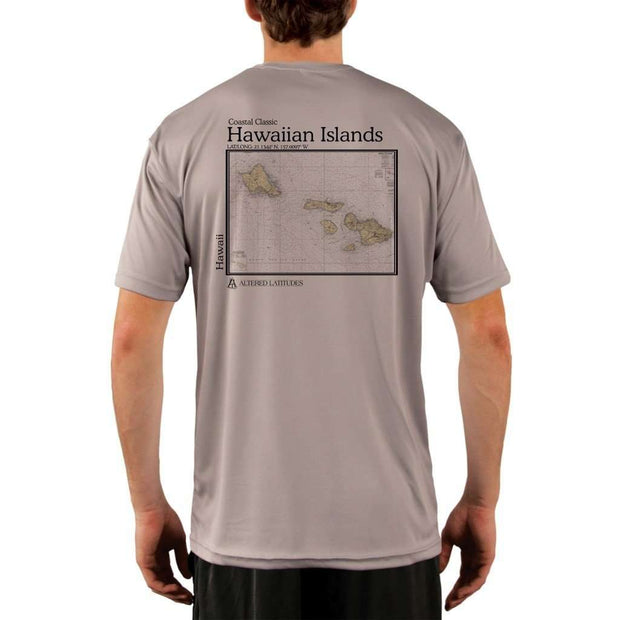 Coastal Classics Hawaiian Islands Mens Upf 5+ Uv/sun Protection Performance T-Shirt Athletic Grey / X-Small Shirt