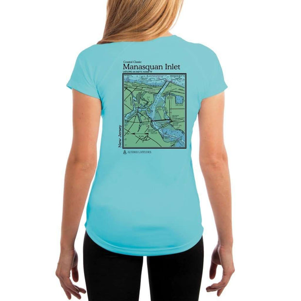 Coastal Classics Manasquan Inlet Womens Upf 5+ Uv/sun Protection Performance T-Shirt Water Blue / X-Small Shirt