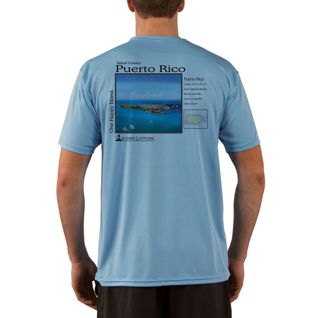 Island Classics Puerto Rico Men's UPF 50+ UV Sun Protection Short Sleeve T-shirt