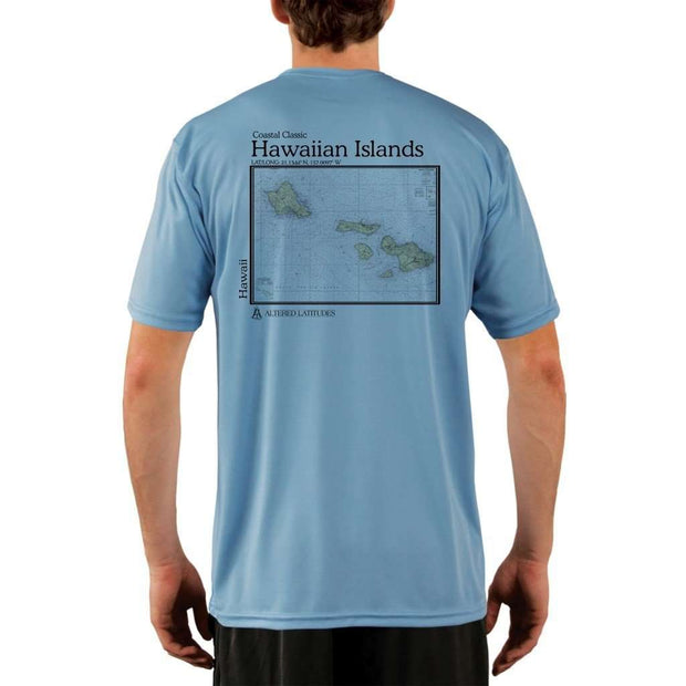 Coastal Classics Hawaiian Islands Mens Upf 5+ Uv/sun Protection Performance T-Shirt Columbia Blue / X-Small Shirt