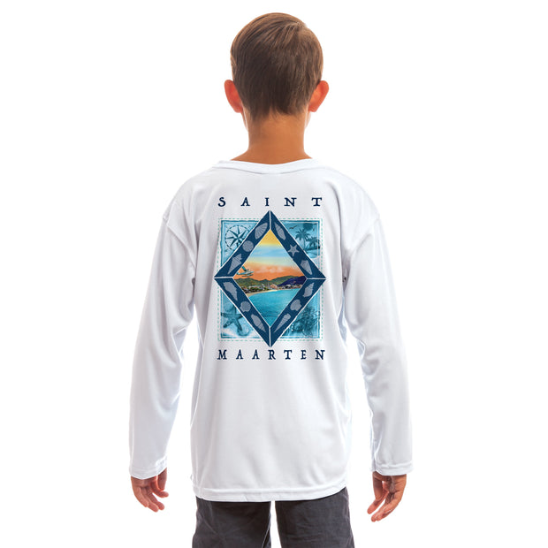 Coastal Quads Saint Maarten Youth UPF 50+ UV/Sun Protection Long Sleeve T-Shirt