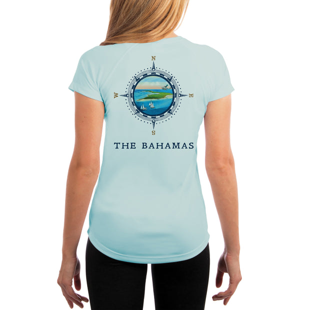 Compass Vintage Bahamas Women's UPF 50+ Short Sleeve T-shirt