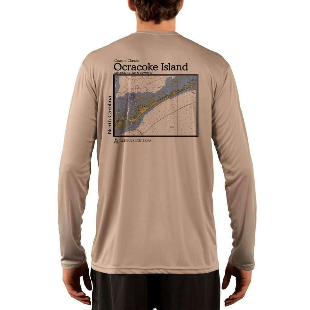 Coastal Classics Ocracoke Island Mens Upf 5+ Uv/sun Protection Performance T-Shirt Tan / X-Small Shirt