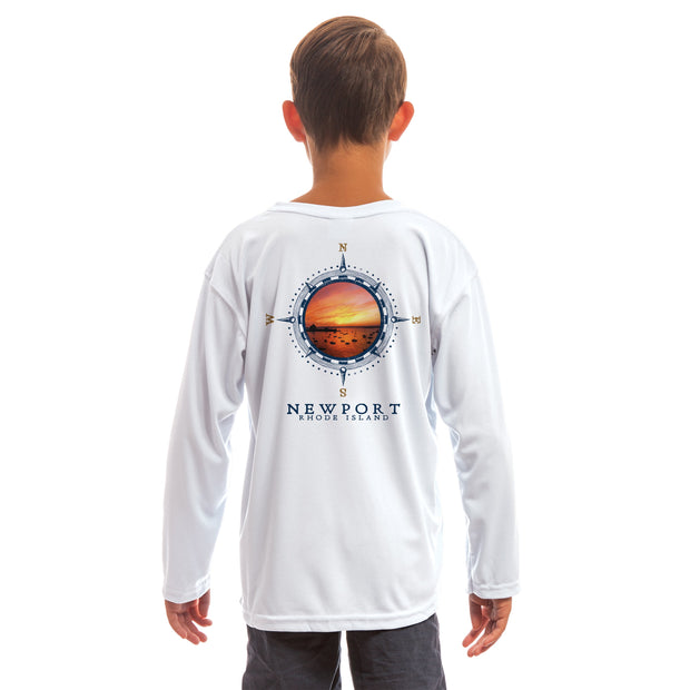 Compass Vintage Newport Youth UPF 50+ UV/Sun Protection Long Sleeve T-Shirt