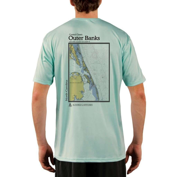 Coastal Classics Outer Banks Mens Upf 5+ Uv/sun Protection Performance T-Shirt Seagrass / X-Small Shirt