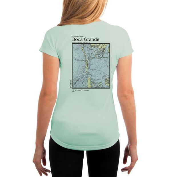 Coastal Classics Boca Grande Womens Upf 5+ Uv/sun Protection Performance T-Shirt Seagrass / X-Small Shirt