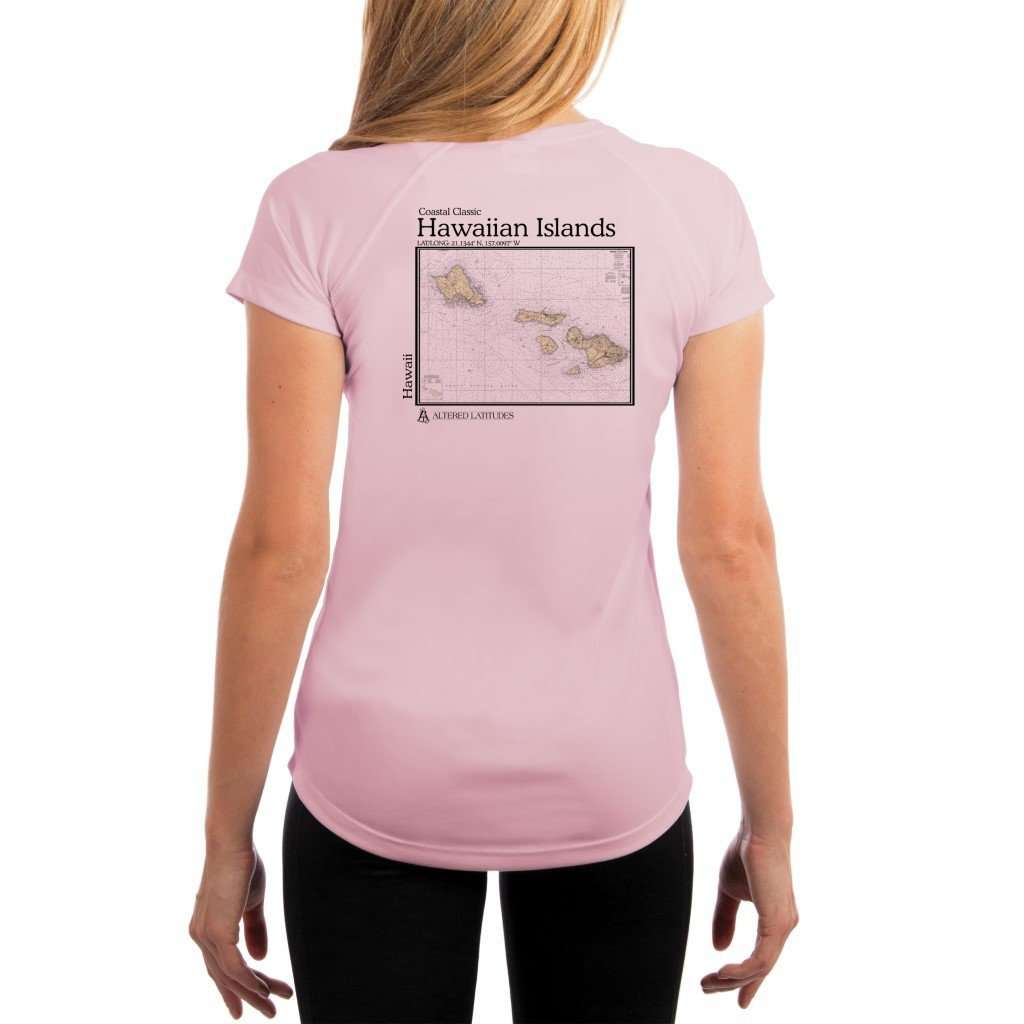 Coastal Classics Hawaiian Islands Womens Upf 50+ Uv/sun Protection Performance T-Shirt Pink Blossom / X-Small Shirt