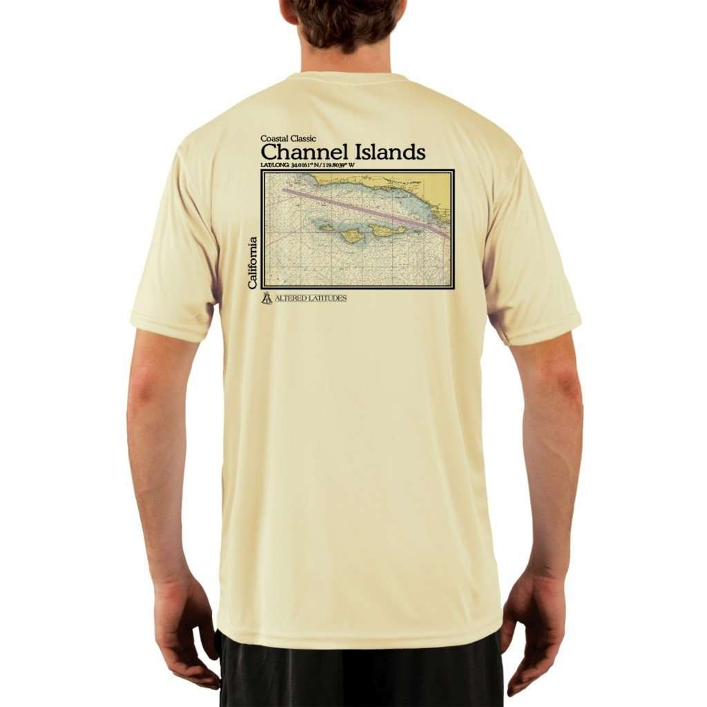 Coastal Classics Channel Islands Mens Upf 50+ Uv/sun Protection Performance T-Shirt Pale Yellow / X-Small Shirt